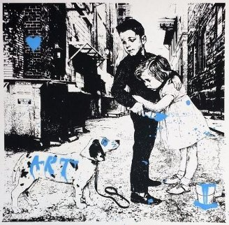 Pup Art (Blue) 2012 Limited Edition Print by Mr. Brainwash
