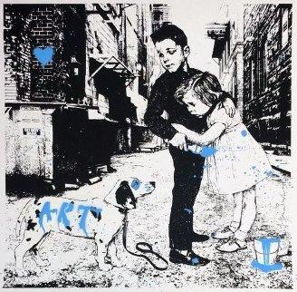 Pup Art (Blue) 2012 Limited Edition Print - Mr. Brainwash