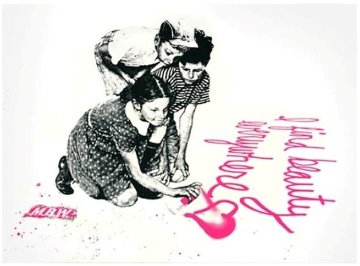 I Find Beauty Everywhere 2010 Limited Edition Print by Mr. Brainwash