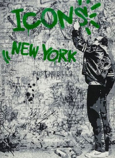 Wall (Green) 2009 Limited Edition Print - Mr. Brainwash