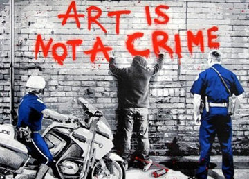 Art is Not a Crime 2011 Limited Edition Print by Mr. Brainwash