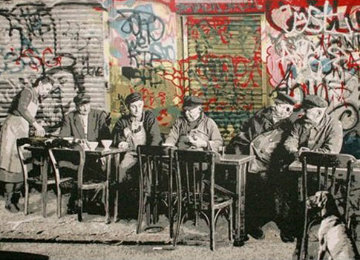 Le Bistro 2008 Limited Edition Print - Mr. Brainwash