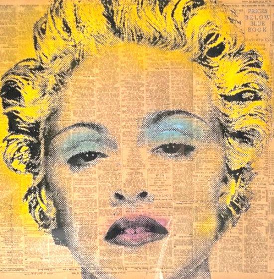 Madonna 2009 27x27 Original Painting by Mr. Brainwash
