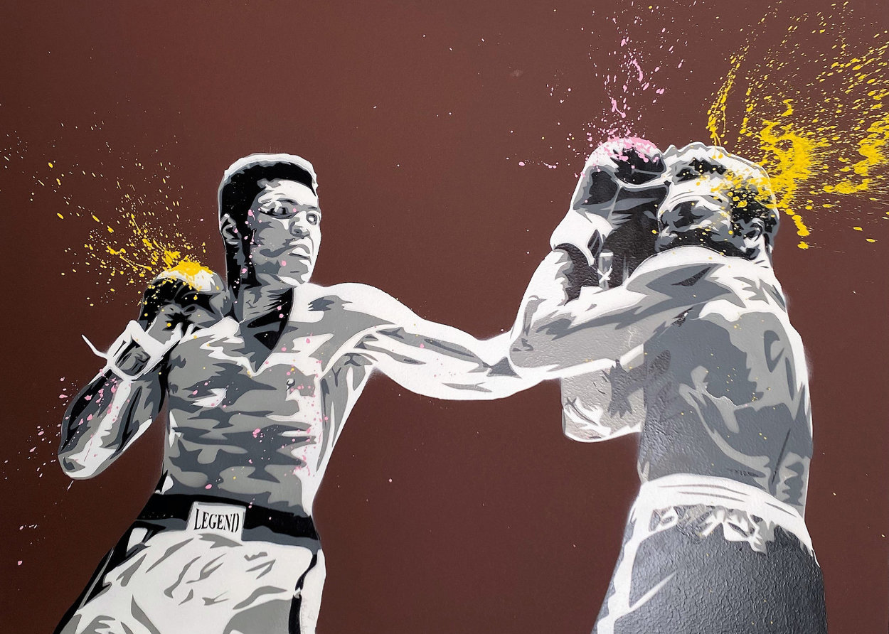 Muhammad Ali 2008 32x42 Huge Original Painting by Mr. Brainwash