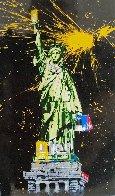 Statue of Liberty Black 2010 65x41 Huge Original Painting by Mr. Brainwash - 1