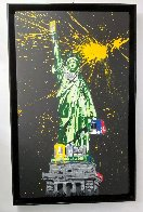 Statue of Liberty Black 2010 65x41 Huge Original Painting by Mr. Brainwash - 2