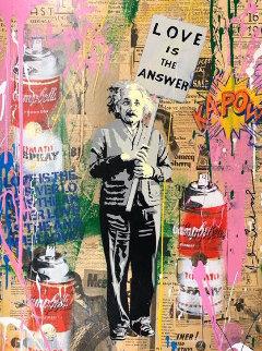 Einstein 2019 30x22 Original Painting by Mr. Brainwash