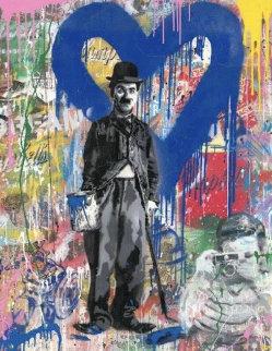 Chaplin 2019 50x38 Original Painting by Mr. Brainwash