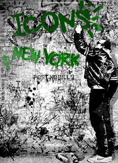 New York Icons - Keith Haring Green 2009 Limited Edition Print - Mr. Brainwash