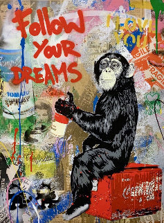 Everyday Life 2019 37x31 Works on Paper (not prints) - Mr. Brainwash