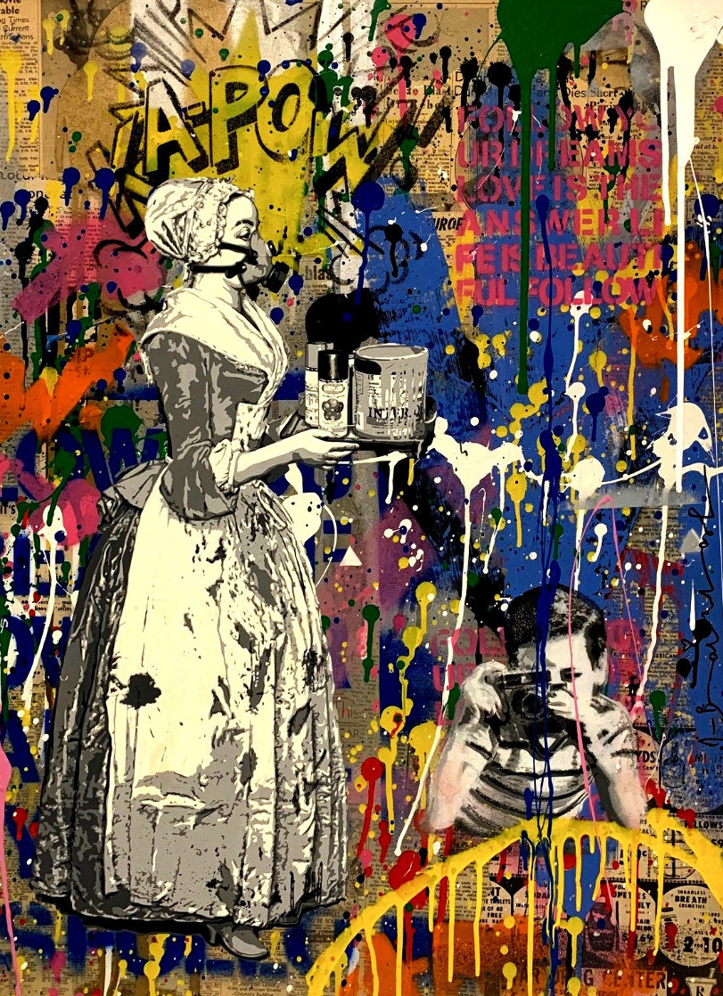 House Special Unique 2019 Embellished Works on Paper (not prints) by Mr. Brainwash