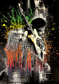 Jimi Hendrix (Gradient) 2015 Limited Edition Print - Mr. Brainwash