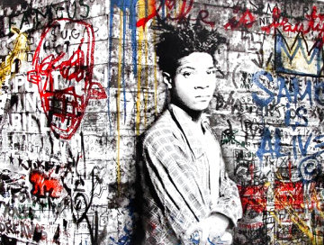 Samo is Alive   (Portrait of Jean-Michel Basquiat) 2016 Super Huge Limited Edition Print - Mr. Brainwash