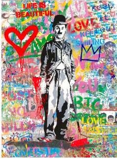 Chaplin 2020 50x38 Original Painting - Mr. Brainwash