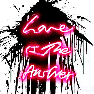 Love On 2018 Limited Edition Print - Mr. Brainwash
