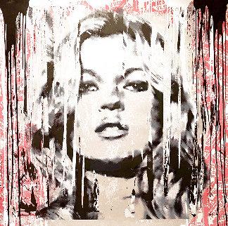 Kate Moss Fragile Unique, Super Huge 2014 54x54 Works on Paper (not prints) - Mr. Brainwash