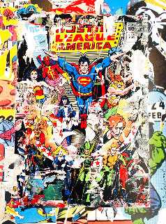 Heroes 2017 50x38  Super Huge  Works on Paper (not prints) - Mr. Brainwash