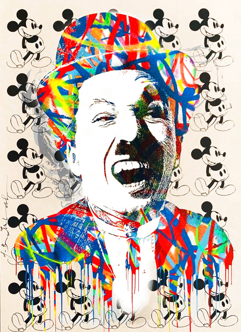 Charlie 2015 30x22 Unique Works on Paper (not prints) by Mr. Brainwash
