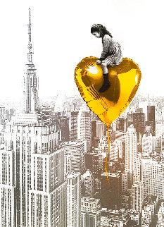 Big City, Big Dreams (Gold) 2020  Huge (New York) Limited Edition Print - Mr. Brainwash