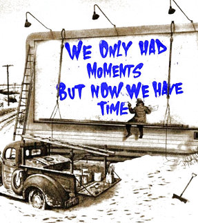 Now is the Time (Blue) 2020 Limited Edition Print - Mr. Brainwash