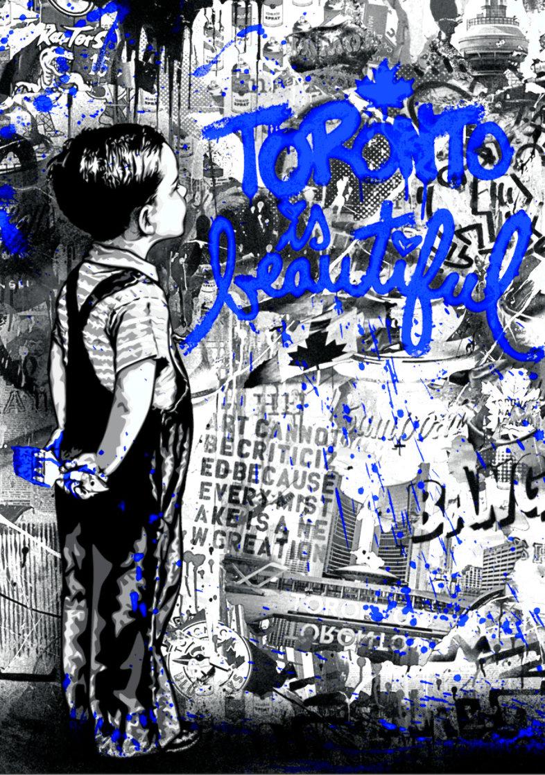 Toronto is Beautiful (Blue) 2019 Limited Edition Print by Mr. Brainwash