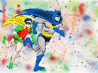 Batman & Robin Unique 2017 22x30 Works on Paper (not prints) by Mr. Brainwash - 0