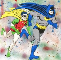 Batman & Robin Unique 2017 22x30 Works on Paper (not prints) by Mr. Brainwash - 1