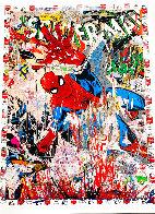 Spider-Man Unique 2019 50x38  Huge Works on Paper (not prints) by Mr. Brainwash - 1