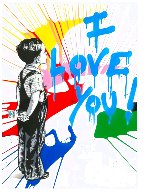 With All My Love 30x22 2020 Original Painting by Mr. Brainwash - 0