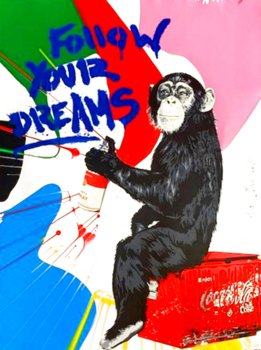 Everyday Life Unique 2020 30x22 Works on Paper (not prints) by Mr. Brainwash