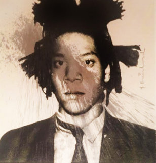 Basquiat Self-Portrait for Frank Sinatra 2013  Unique 29x36  Original Painting by Mr. Brainwash