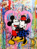 Mickey and Minnie 2015 38x50 Works on Paper (not prints) by Mr. Brainwash - 0
