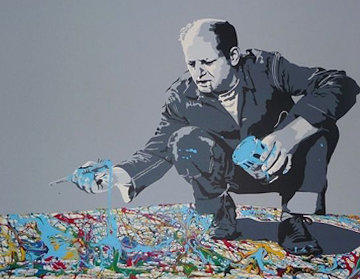 Jackson Pollock Embellished 2013 Limited Edition Print - Mr. Brainwash