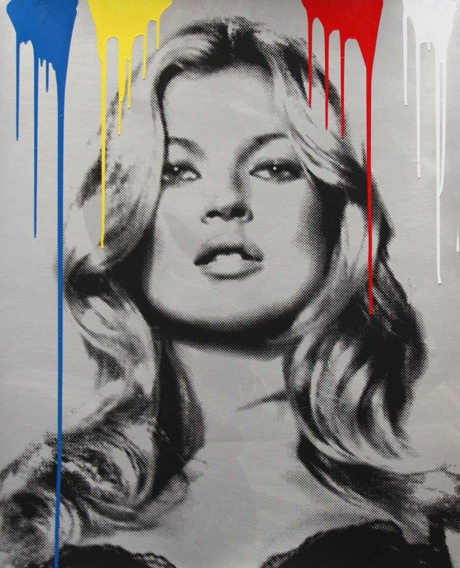 Cover Girl - Kate Moss 2010 Unique 45x34 Huge Limited Edition Print by Mr. Brainwash