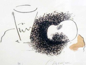 Le Verre Et La Pomme 1963 Limited Edition Print - Georges Braque