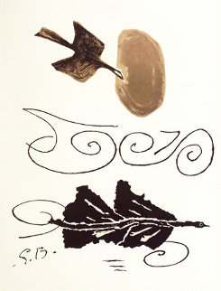 Black And Brown Dove 1956 HS Limited Edition Print - Georges Braque