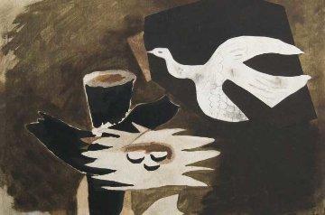 l'Oiseau Et Son Nid 1956 HS Limited Edition Print - Georges Braque