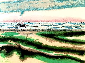 Cavalier Sur La Plage AP 1969 Limited Edition Print - Andre Brasilier