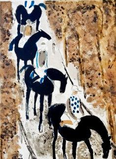 Jockey's Sur La Neige 1964 Limited Edition Print - Andre Brasilier