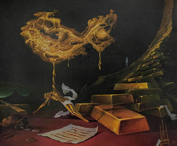 Nugget (The Golden Fund of History) 2006 20x23 Original Painting - Victor Bregeda