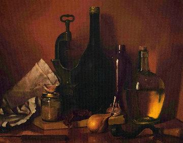 Kitchen Still Life 1992 12x12 Original Painting - Victor Bregeda
