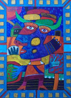 Il Verdulero Le Sobran Banana Iberencena 2000 32x24 Original Painting by Clemens Briels