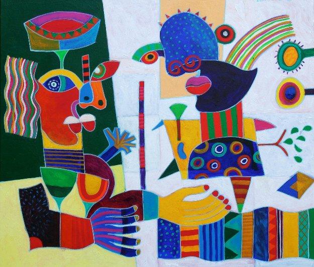 Saba Tales 37x45 by Clemens Briels