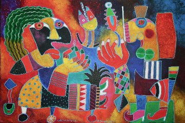 Laterna Magica 31x47 Original Painting by Clemens Briels