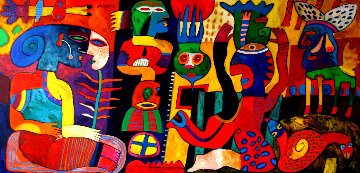 La Feria De Mentiras 59x108 Original Painting by Clemens Briels