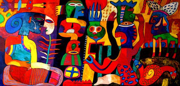 La Feria De Mentiras 59x108 by Clemens Briels