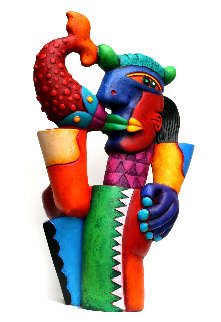 Pedro El Pescador Acrylic Sculpture 24 in Sculpture by Clemens Briels