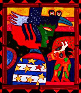 Un Pajaro Negro Cambia De Noche En La Dama En Arul La Esposa De Cabeza Vaca 2003 Limited Edition Print - Clemens Briels
