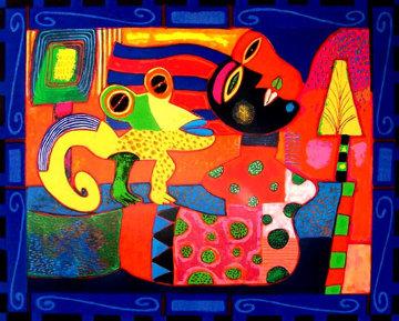 Un Medio Dia En Playa Enamorada 2003 31x39 Huge  Limited Edition Print - Clemens Briels