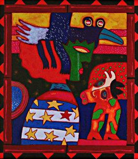Un Pajaro Negro Cambia De Noche En La Dama En Arul La Esposa De Cabeza Vaca 2003 Limited Edition Print by Clemens Briels
